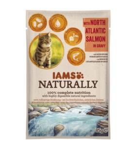 Iams Pouches Nat Salmon 85g