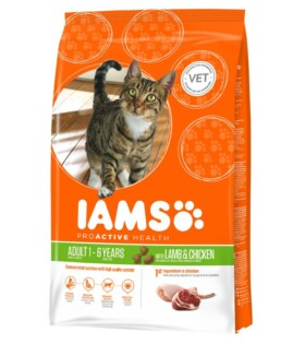 Iams ProActive Health - Adult Dry Cat Food With New Zeeland Lamb&Chicken 3D