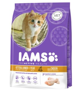 Iams ProActive Health - Kitten&Junior Dry Cat Food Rich in Succulent Roasted Chicken 3D